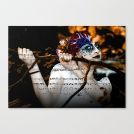 The Muse in The Woods Canvas Print
