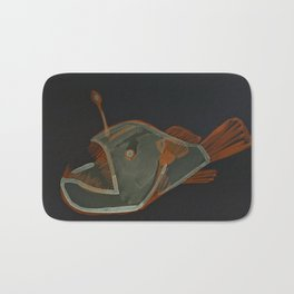 angler fish negative Bath Mat