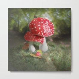 Fairy Mushroom Baby Metal Print