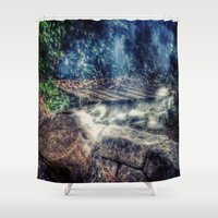 smoke Shower Curtains featuring Smoke by Geni