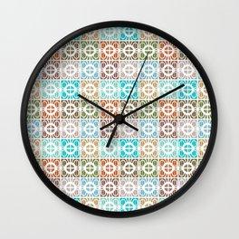 Desert Tiles Wall Clock