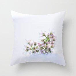 Cilantro flower - Botanical Photography Throw Pillow