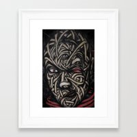 faces Framed Art Prints featuring Faces by Suave-O