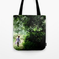 neverland Tote Bags featuring Neverland by NishaJayne