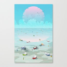 Between two waters Canvas Print