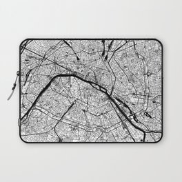 Paris Black and White Map Laptop Sleeve