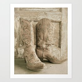 Cowgirl Chic Art Print