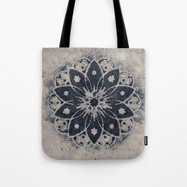Mandala Blue Bohemian Geometic Abstract Tote Bag