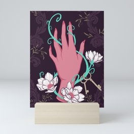 Temperance - Pink and Turquoise Mini Art Print