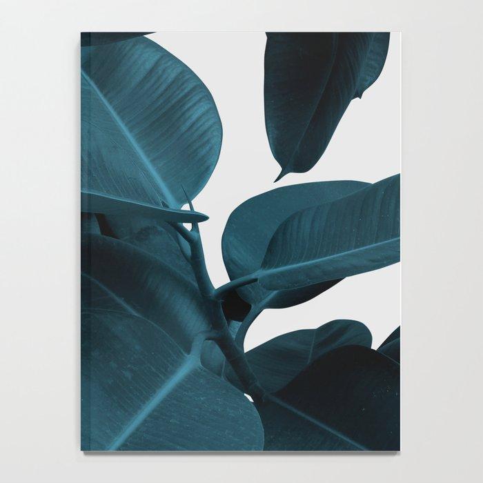 Indigo Blue Plant Leaves Notebook