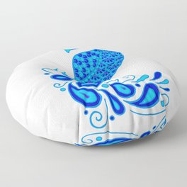 Blue Peacock Floor Pillow