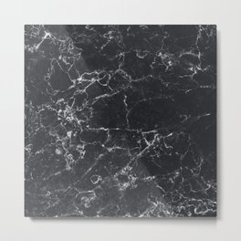 Dark Granite Metal Print