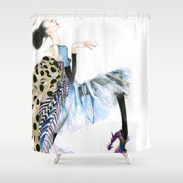 galina sokolova HER HAUTENESS Shower Curtain