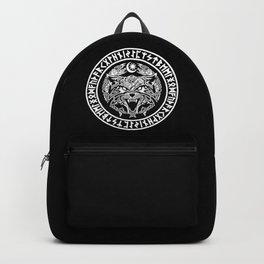 Viking Fenrir Emblem - Wolf Norse Mythology Backpack
