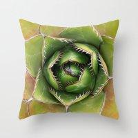 montana Throw Pillows featuring Agave Montana by Awispa