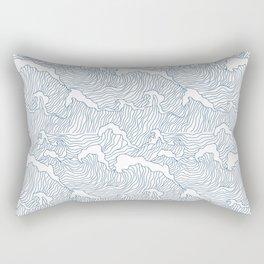 Japanese Wave Rectangular Pillow