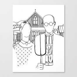 American Gothic Revival Canvas Print