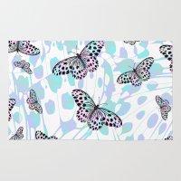butterflies Area & Throw Rugs featuring Butterflies by Ornaart
