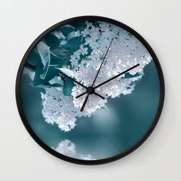 Lilacs blue 092 Wall Clock