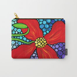 Lady In Red - Big bold beautiful Red poppy by Labor Of Love artist Sharon Cummings. Carry-All Pouch