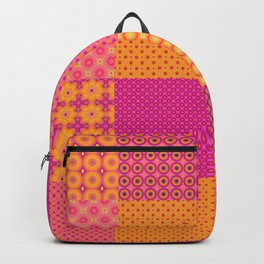 4x4 tiled digital patchwork, quilt like pattern. 16 different patterns. Backpack