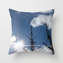Salem Wooden ship Throw Pillow