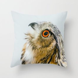 Eurasian Eagle Owl Throw Pillow