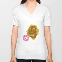 dreamer V-neck T-shirts featuring Dreamer by Oga Mendonça