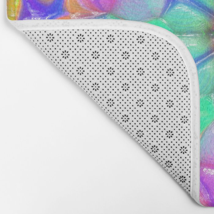 Colorful Concentric Reflections Bath Mat