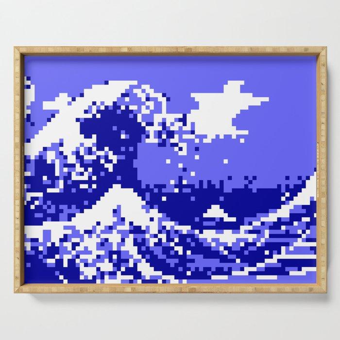 Pixel Tsunami Serving Tray