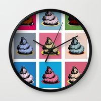 contemporary Wall Clocks featuring Contemporary art by Misha Libertee