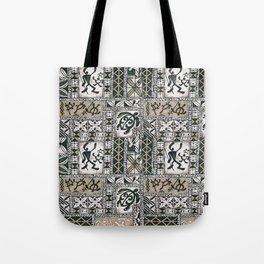 Hawaiian Honu Tapa Cloth Tote Bag