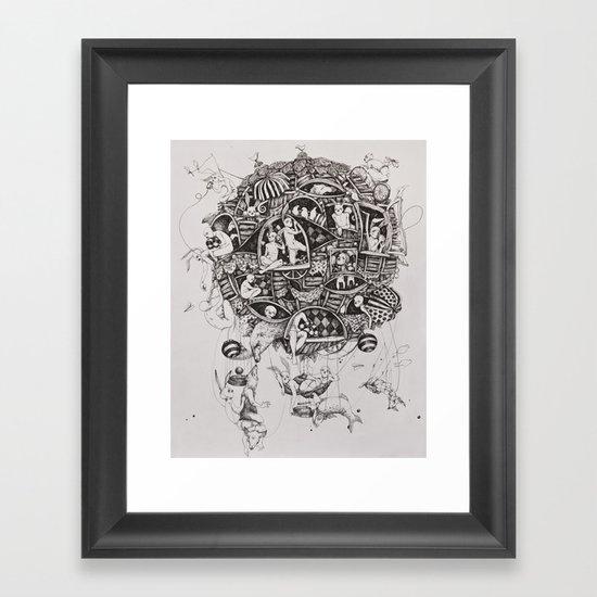 Free flight Framed Art Print