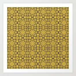 Primrose Yellow Geometric Art Print