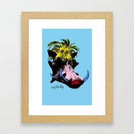 Andy Warthog Framed Art Print