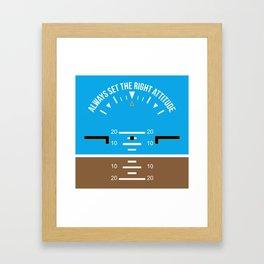 Right Attitude Framed Art Print