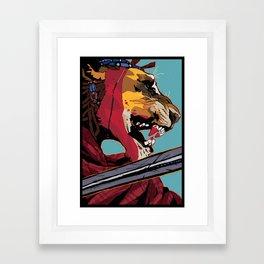 Maasai Lion Framed Art Print