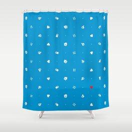 Villager's American Dream (Pattern) Shower Curtain
