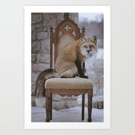 Fox on a Throne Art Print