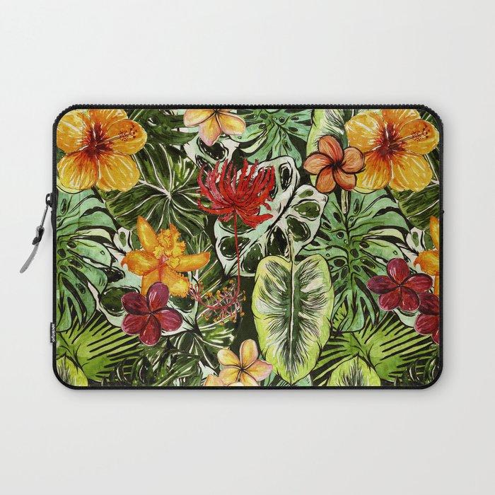 Tropical Vintage Exotic Jungle Flower Flowers Floral Watercolor