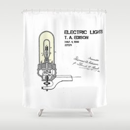 Edison electric light patent Shower Curtain