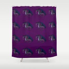 Simple Dragon Print Shower Curtain