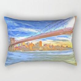 Brooklyn Bridge New York Pop Art Rectangular Pillow