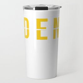 DEN - Denver Colorado Airport Airport Code Souvenir or Gift Design  Travel Mug