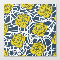 YELLOW ROSE SQUIGGLE Canvas Print