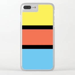 Diversions #1 in Yellow, Orange & Powder Blue Clear iPhone Case