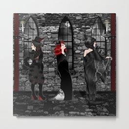 Queens of Goth Metal Print
