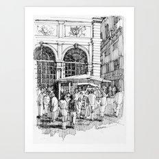 Loggia in Piazza Banchi, Genova  Art Print