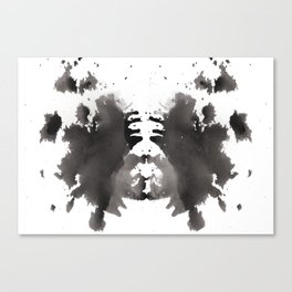Rorschach test 1 Canvas Print