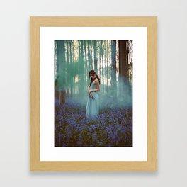 Girl in forest 2 Framed Art Print